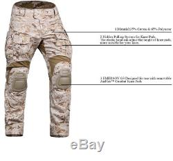 EMERSON G3 Combat Uniform BDU Hunting Military Tactical Shirt Pants with Knee Pads