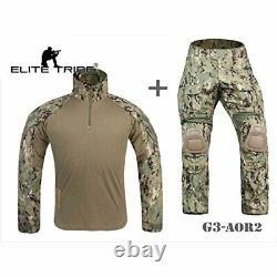 Elite Tribe Airsoft Military BDU Tactical Suit Gen3 Uniform Shirt Pants Large