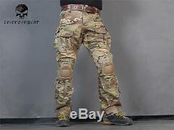 Emerson Combat Gen3 Shirt Pants Suit Airsoft bdu Tactical Uniform with Knee Pads
