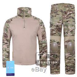 Emerson G2 Combat Shirt & Pants with Elbow & Knee Pads Tactical BDU Uniform Set MC