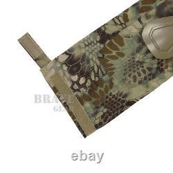 Emerson G2 Tactical BDU Combat Uniform Set Comfort Shirt & Pants+Knee Pads M/L