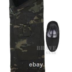 Emerson G2 Tactical Unisex BDU Combat Uniform Set Shirt & Pants + Knee Pads S-XL