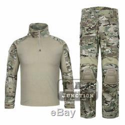 Emerson G3 Combat Shirt & Pants Knee Pads Set Tactical GEN3 BDU Uniform