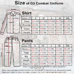Emerson G3 Combat Uniform Shirt & Pants BDU Tactical Wargame Clothing Wolf Gray