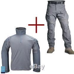 Emerson G3 Combat Uniform Shirt & Pants Tactical Hunting BDU Clothing Wolf Gray
