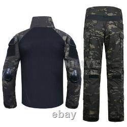 Emerson Gen2 Tactical Suit Assault Combat Shirt & Pants BDU Uniform with Knee Pads