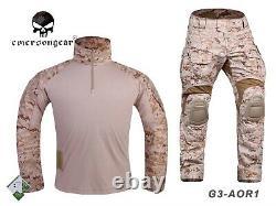 Emerson Gen3 Combat Shirt Pants Suit Airsoft Military bdu Uniform AOR1