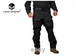 Emerson Gen3 Combat Shirt Pants Suit Airsoft Military bdu Uniform Black