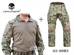 Emerson Gen3 Combat Shirt Pants Suit Airsoft Tactical bdu Uniform Aor2