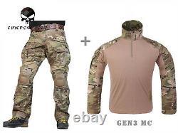Emerson Gen3 Combat Shirt Pants Suit Military Tactical bdu Uniform Multicam MC