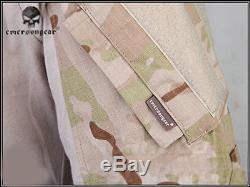 Emerson Military Gen3 G3 Combat BDU Uniform Shirts & Pants Suit With Pads MCAD