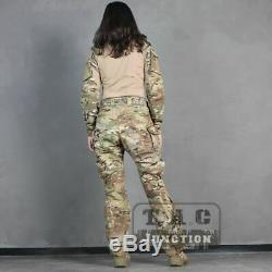 Emerson Tactical BDU G3 Women Combat Uniform Assault Shirt & Pants + Knee Pads