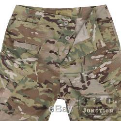 Emerson Tactical Camo R6 Style Field BDU Combat Assult Shirt & Pants Set Uniform