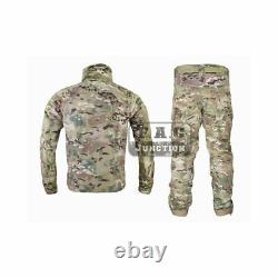 Emerson Tactical Combat BDU Uniform Shirt and Pants Suit Set Camo Multicam
