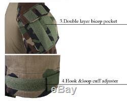 Emerson Tactical Combat Gen3 Shirt + Pants Suit Airsoft BDU Uniform with Knee Pads