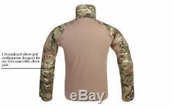Emerson Tactical G3 Combat Shirt & Pant With Knee Pads Gen3 BDU Uniform Multicam
