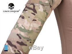 Emerson Women G3 Combat Shirt Pants Suit Airsoft Tactical Uniform MultiCam