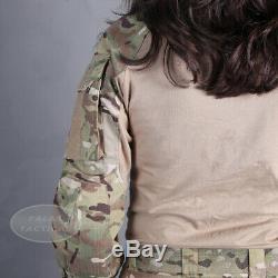 Emerson Women G3 Combat Uniform Camo Multicam Gen3 BDU Shirt & Pants with Knee Pad