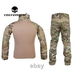 Emersongear Gen2 Tactical Combat Uniform Shirt&Pants BDU Camouflag Mens Suit