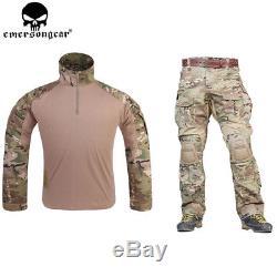 G3 Combat Uniform Airsoft Shirt Pants Tactical Multicam Hunting Camo Clothes