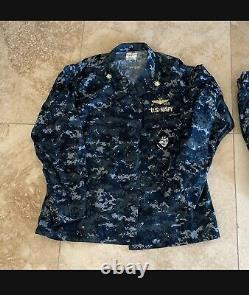 Genuine USN Issue NWU US Navy 1 Shirt And 2 Pants Set Size Large New Without Tag