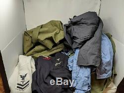 HUGE Vietnam Vintage US Navy Bag, Uniform, Shirt, Pants Jumper Lot 60s. Nice