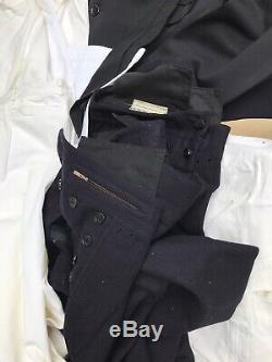 Huge WW2 Korean War USN US Navy Uniform Pea coat Deck Pants Suit Shirt Top Lot