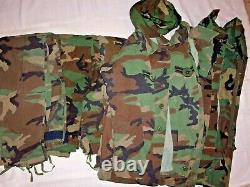Huge lot of 8 pcs US Air Force Uniform Woodland Jacket, 3 Pants & 3 Shirt, Hat