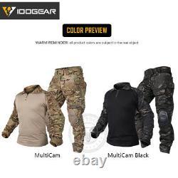 IDOGEAR G3 Combat Uniform Set Shirt & Pants BDU Tactical Clothing Black MultiCam