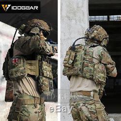IDOGEAR G3 Combat Uniform Shirt & Pants BDU Set with Knee pads Clothing Military