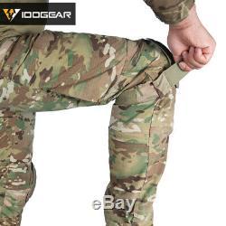 IDOGEAR G4 Combat Uniform Shirt & Pants Tactical BDU with pads Clothing Paintball