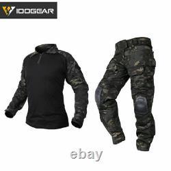 IDOGEAR GEN3 Tactical Uniform Set Shirt & Pants BDU Combat Airsoft Clothing CAMO