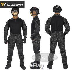 IDOGEAR Tactical G3 Combat Uniform Shirt & Pants BDU Set Gear Clothing MultiCam