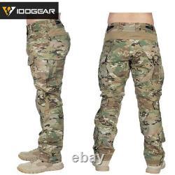 IDOGEAR Tactical Uniform BDU G3 Combat Shirt & Pants Knee Pads Airsoft Paintball