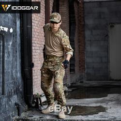 IDOGEAR Tactical Uniform BDU G3 Combat Shirt & Pants Knee Pads Update Ver Camo