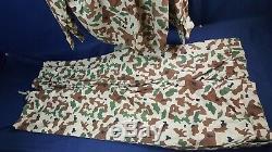 Iraqi Republican Army Camo Uniform Shirt Pants Middle East Lapel Emblem VG