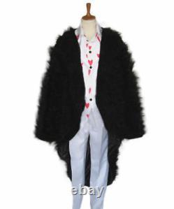 Jacket+Shirt+Pant+Hat One Piece Donquixote Rosinante Corazon Cosplay Costume