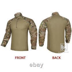 KRYDEX G4 Gen4 Combat Uniform Tactical Shirt & Pants with Knee Pads Camo Multicam