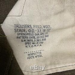 Korean War Era Uniform Military US 2nd Army Shirt Pants Jacket