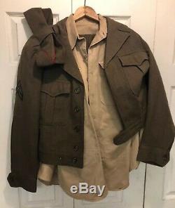 Korean War Uniform Army 42R Dress Clothes Excellent Conditon Coat Shirt Pants