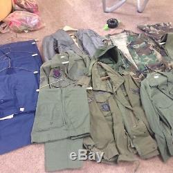 LOT 17pcs Vintage US Air Force Officer Uniforms, Jackets, Pants, Shirts Etc