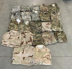 LOT OF 22 Army Digital Camouflage BDU Combat Shirts and Pants
