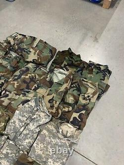LOT OF 23 Army Digital Camouflage BDU Combat Shirts and Pants