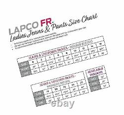 Lapco FR L-PFRACNY 4RG Ladies FR Advanced Comfort Uniform Pants, 88% Cotton