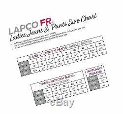 Lapco FR L-PFRACNY 6RG Ladies FR Advanced Comfort Uniform Pants, 88% Cotton