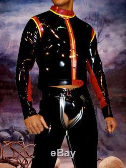 Latex Uniform 100% Rubber Gummi Top Shirt with Pants Suit Suits S-XXL