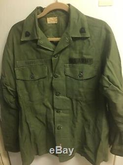Lot Of 6 Vintage USA Army Uniforms. 3 Shirts 3 Pair Of Pants Large