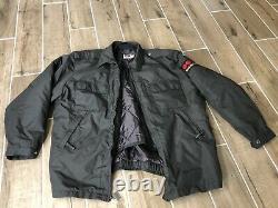 Lot Of Mens GALLS Securitas Officer Uniform, 2 Shirts, Coat, Badge Emblem