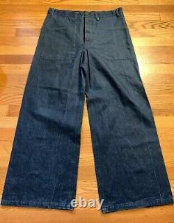 Lot Vintage US NAVY Military Trousers Pants/ Chambray Uniform Shirt. Hat