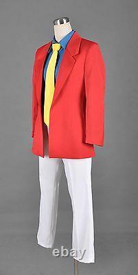 Lupin the third 3rd III Rupan Sansei Red Jacket Shirt Pants Tie Set Cosplay